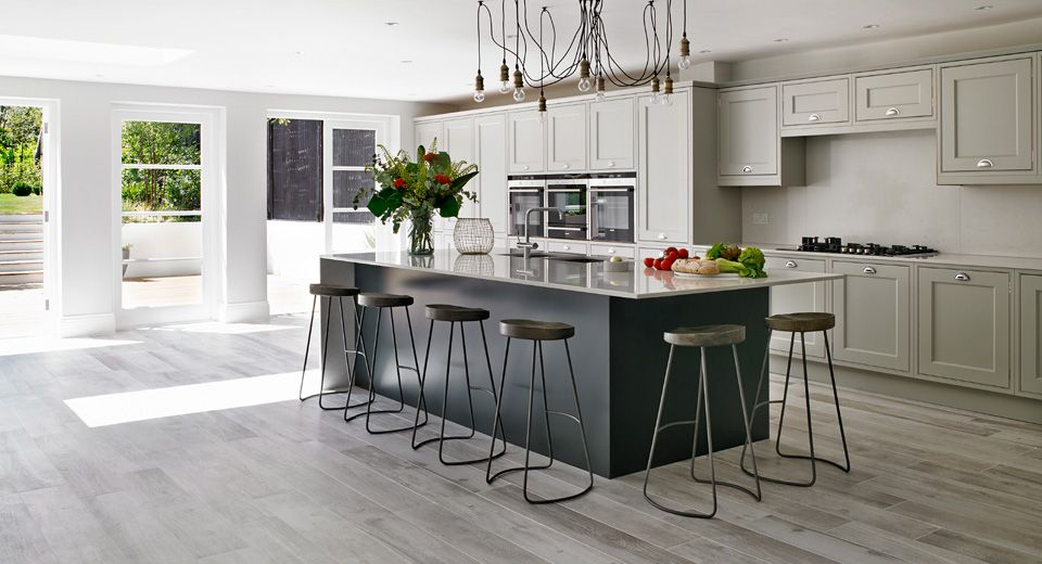 Surbiton kitchen interior by Leivars Grey kitchen floor