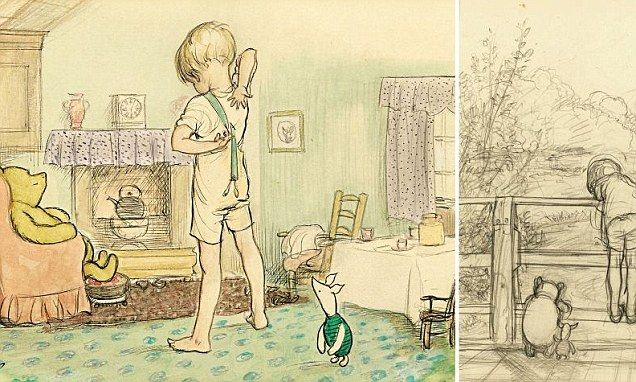 Found... the sketch that first captured the magic of Poohsticks