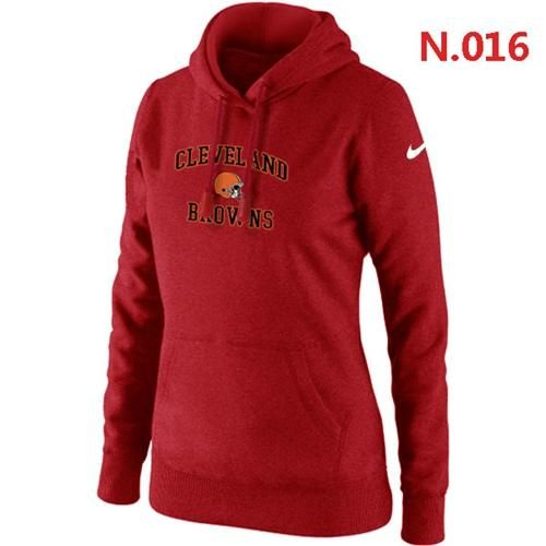 Women s Nike Cleveland Browns Heart   Soul Pullover Hoodie Red  79a7cd51b