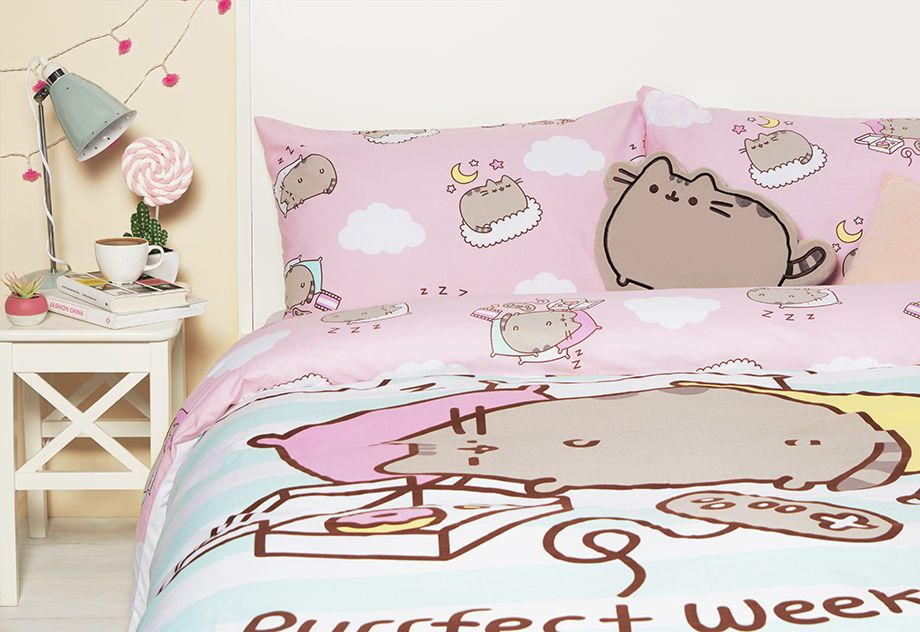 Sweet Kitten Cat Cute Animal Duvet Set Quilt Cover Bedding Single Double King