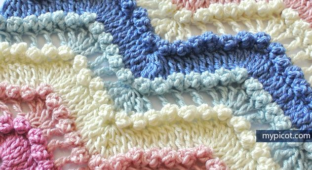 Crochet Textured Wave stitch: Diagram + step by step instructions ...