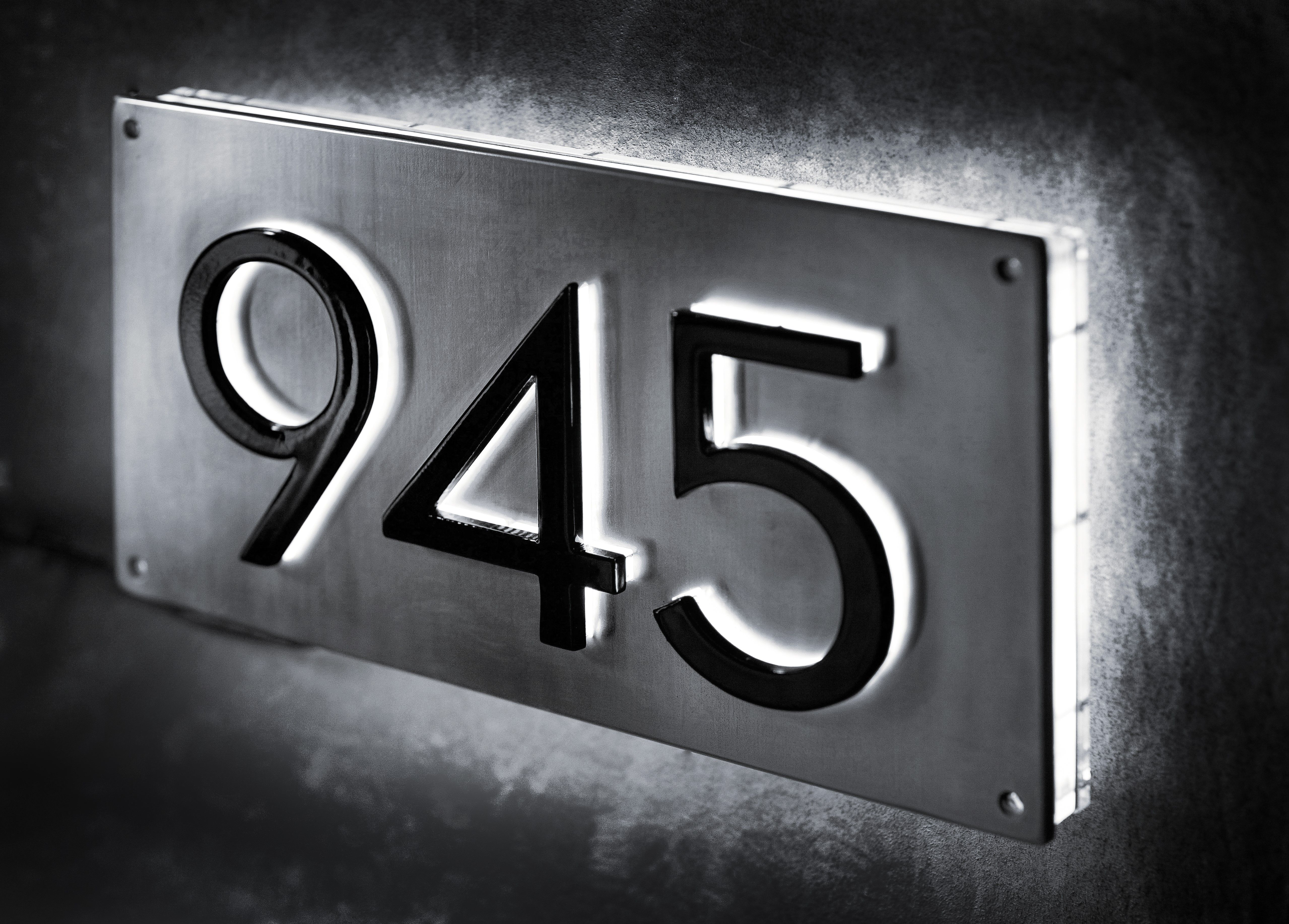 Contemporary Ideas Lighted Address Sign Picturesque Number Signs