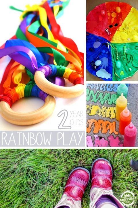 rainbow play ideas for 2 year olds