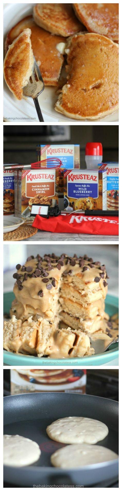 Breakfast for Dinner Month + Krusteaz Breakfast Night Prize Give-Away via /https/://www.pinterest.com/BaknChocolaTess/