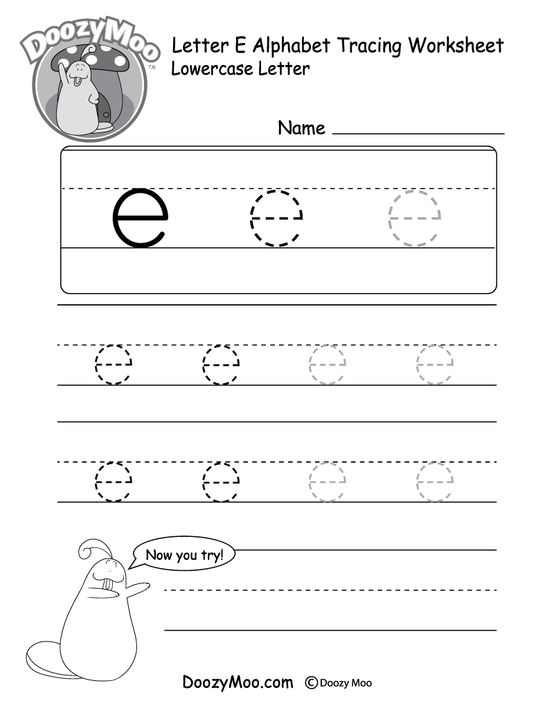 kids can trace the small letter e in different sizes in this free printable there is also. Black Bedroom Furniture Sets. Home Design Ideas