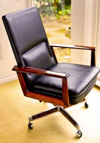 Schreibtischstuhl Modern 1950s desk chair arne vodder sibast rosewood wegner era