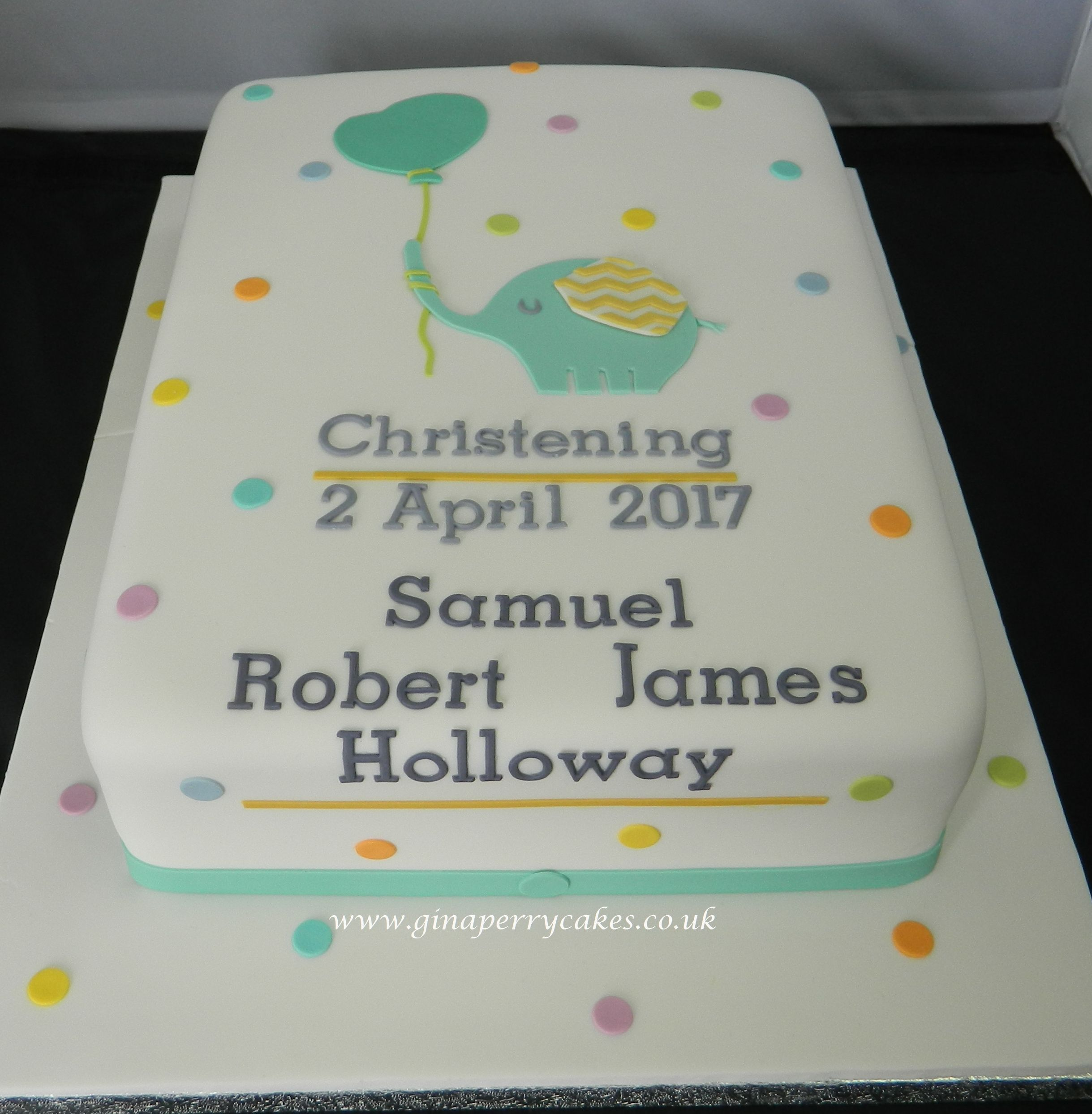 Invitation used for the Christening Cake