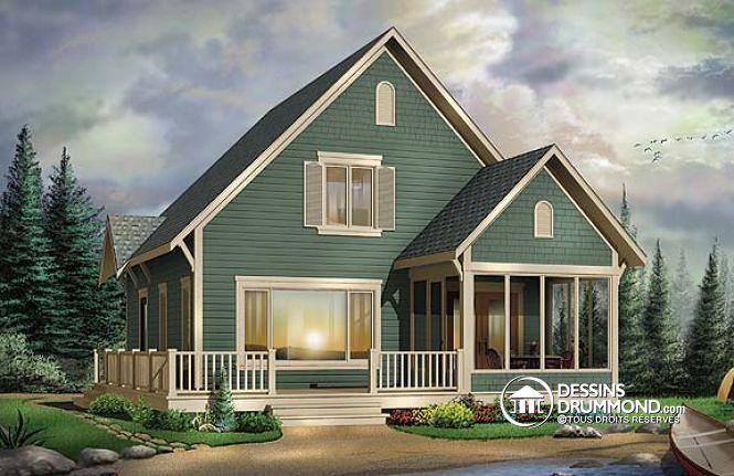 Decouvrez Le Plan 3929 Rivendell Qui Vous Plaira Pour Ses 3 Chambres Et Son Style Chalet Cottage House Plans Cottage Style House Plans Drummond House Plans