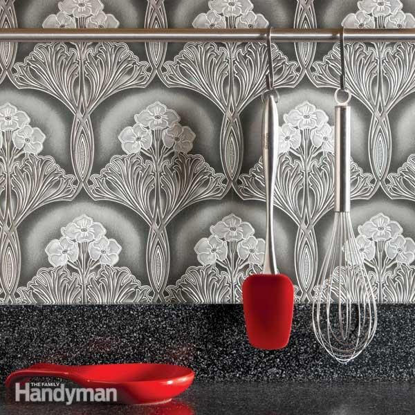 Ideas for the Kitchen Washable Wallpaper Backsplash