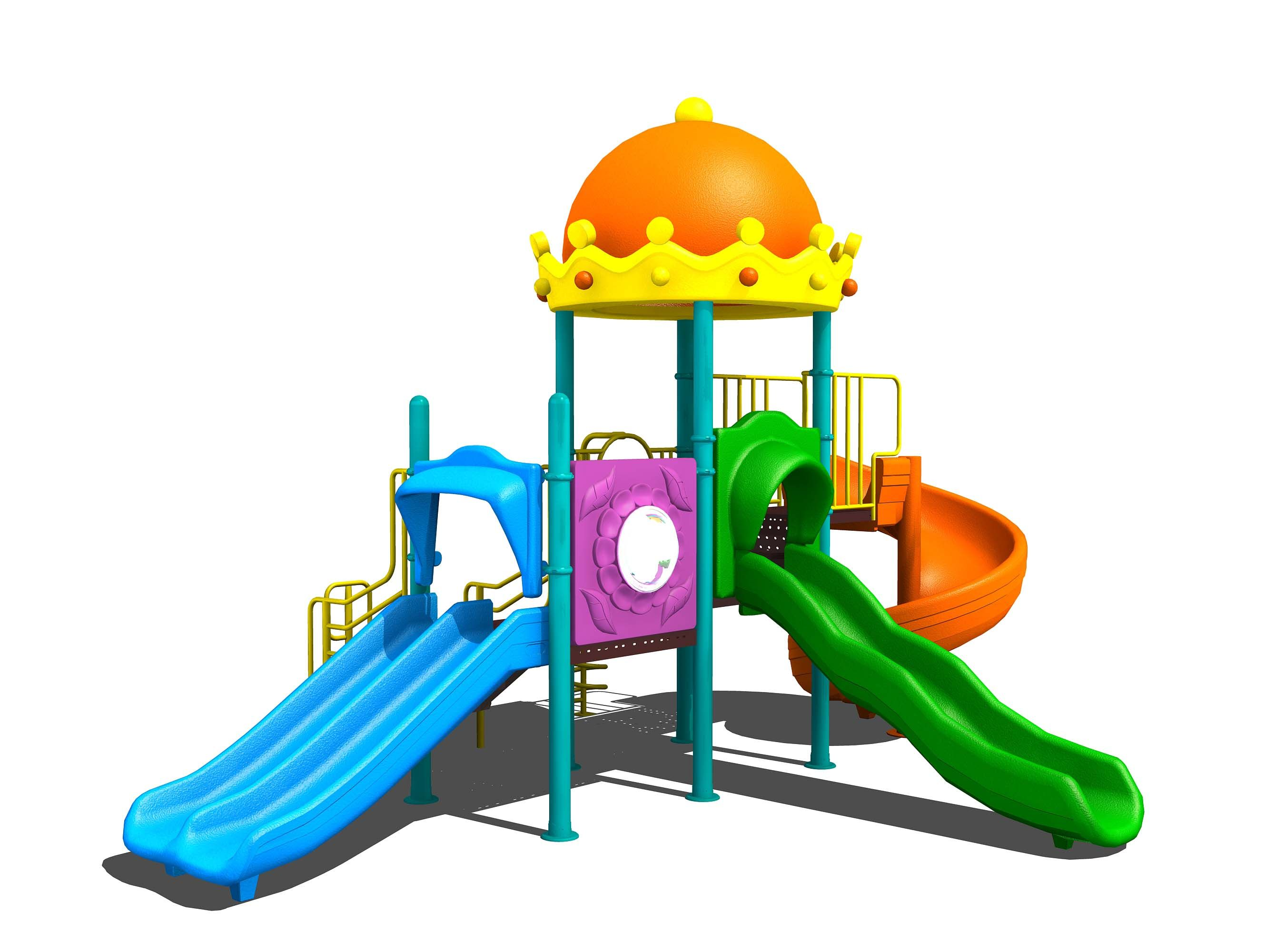 The backyard Playground Equipment is available in wooden metal