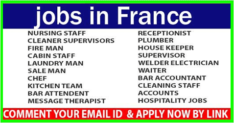 France Vacancies 14000 Any Qualifications Can Apply How To Apply Find A Job France