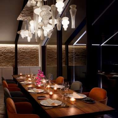An Exclusive Beautiful And Elegant Michelin Star Restaurant In