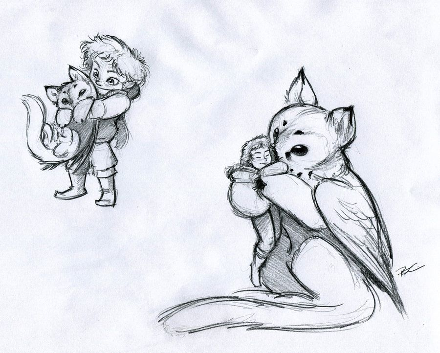 Owl Griffin Role Reversal By Robthedoodler Deviantart Com On