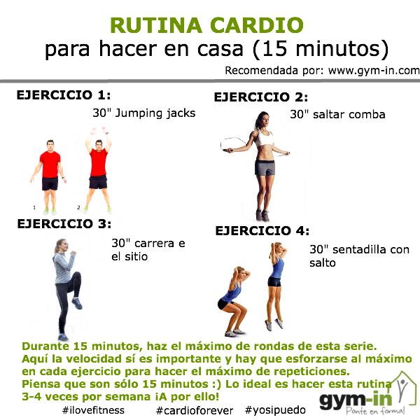 Resultado de imagen para ejercicio cardiovascular ejercicios pinterest ejercicios - Plan de entrenamiento en casa ...