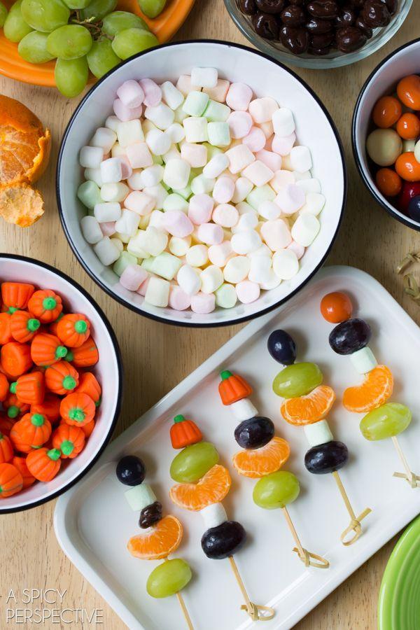 Halloween Fruit Skewers Recipe Halloween fruit, Fruit skewer and - kid halloween party ideas
