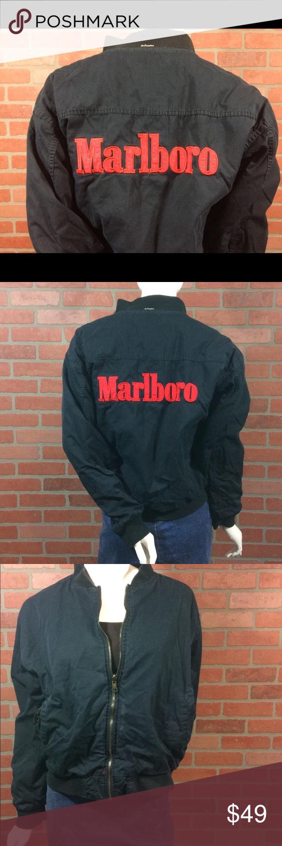Vintage Marlboro Jacket Reversible Red Black S Marlboro Jacket Black And Red Jackets