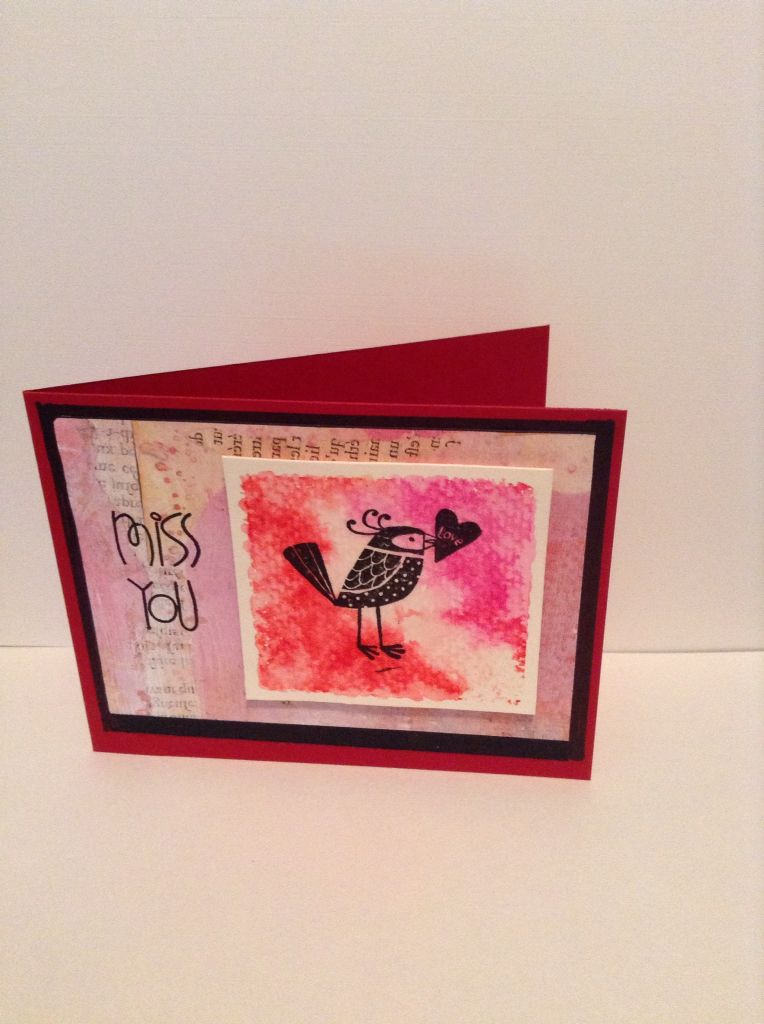 Kiss You watercolour card by Melodie
