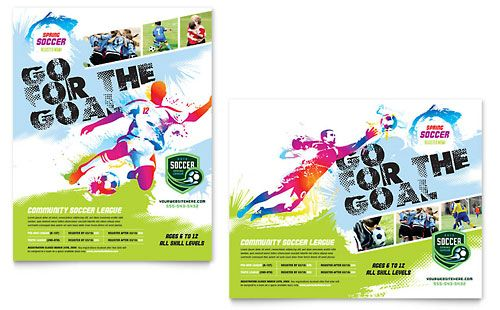 Youth Soccer Poster Template Design  Stocklayouts  Good Picture