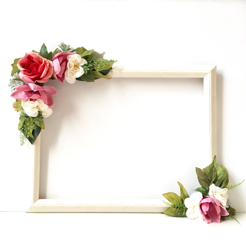 Photo Prop Frame, Engagement Party Selfie Frame, Wedding Floral ...