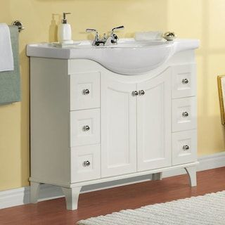"""Magick Woods 41"""" Concord Collection Vanity with Top Matte White"""