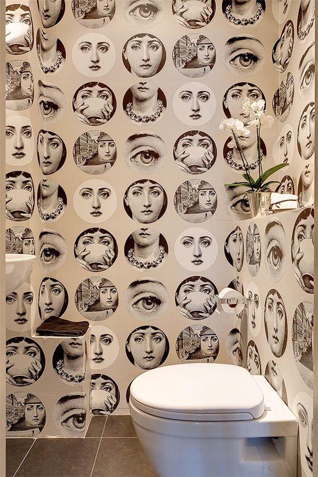 Papel de parede moderno banheiros ba os pinterest for Papel pared moderno