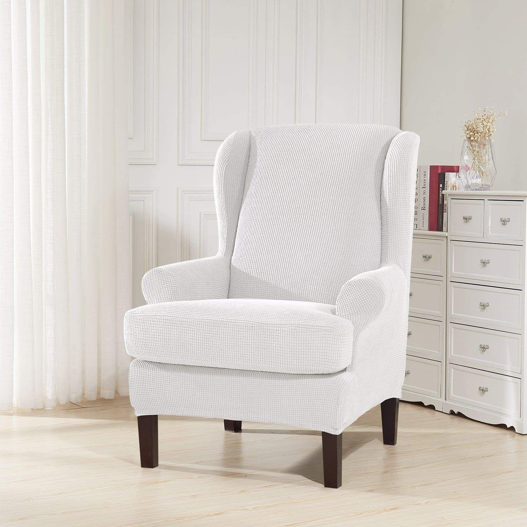 Plaid Wingback Chair Cover  Home Design Ideas