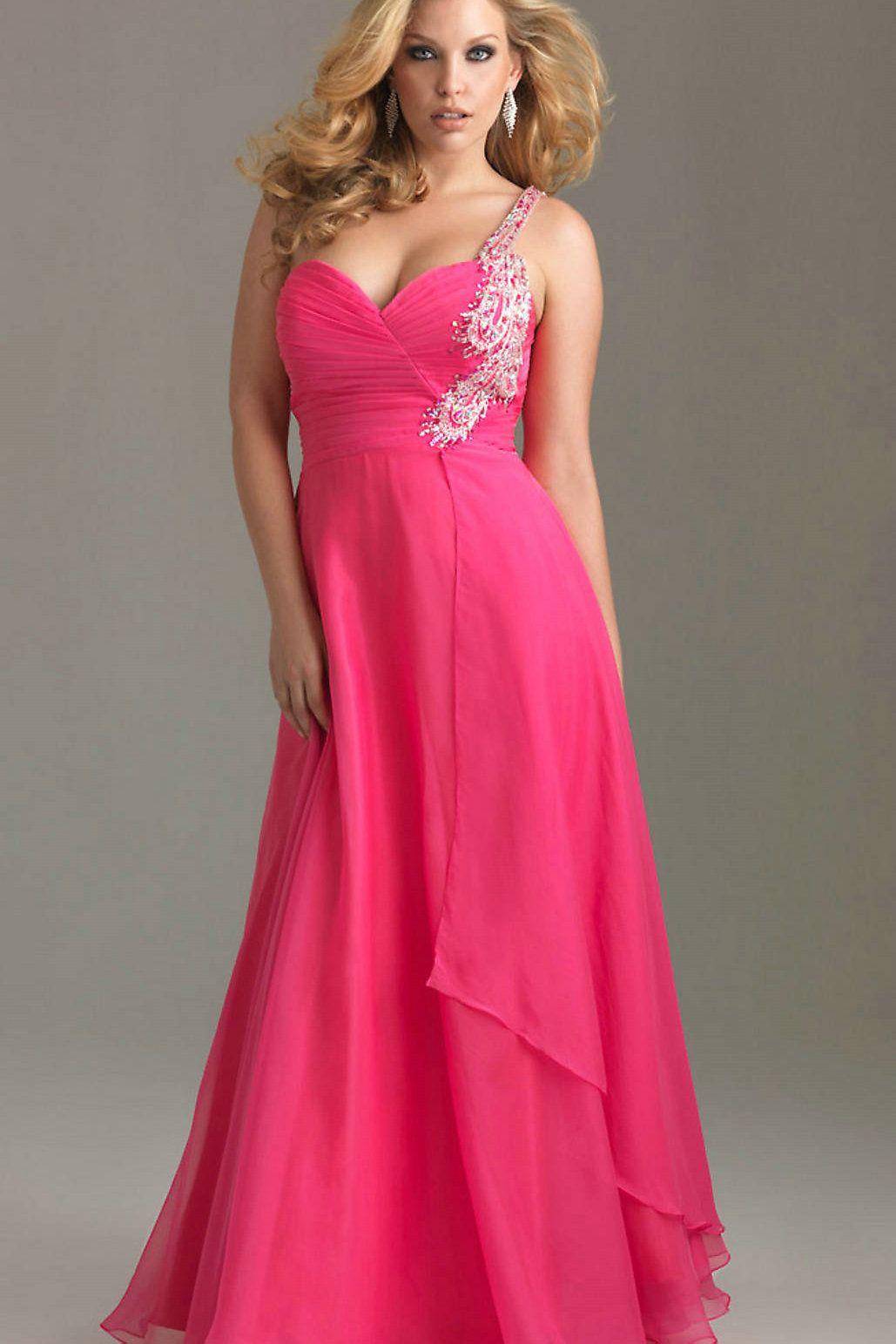 Fashionable Plus Size Evening Wear | Pinterest | Hot pink, Bodice ...