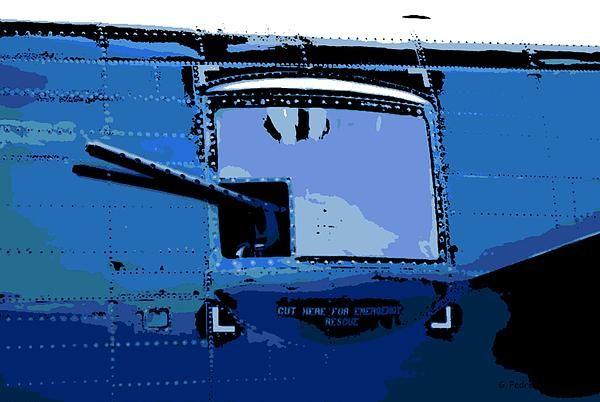 B-25 Bomber Machine Gun window