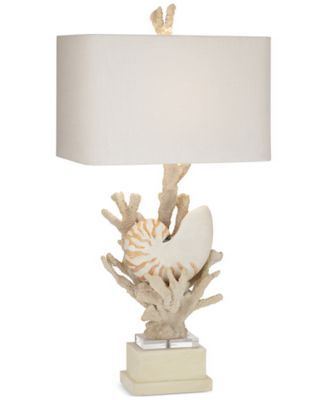 Macys Table Lamps Alluring Kathy Ireland Homepacific Coast Hanauma Bay Nautilus Shell Table 2018