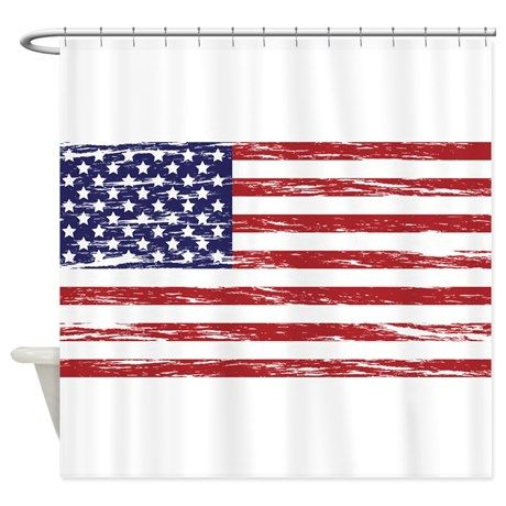 American Flag Shower Curtain By Mightyawesomedesign American