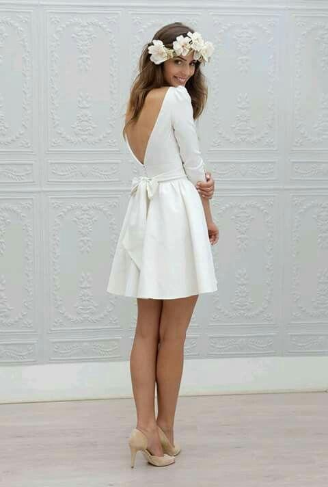 Vestido blanco para matrimonio playa