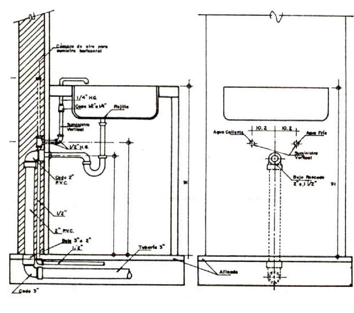 Instalaciones Sanitarias Domiciliarias Buscar Con Google How To Install A Toilet Plumbing Diagram Help Drawing Installation Basement Renovations