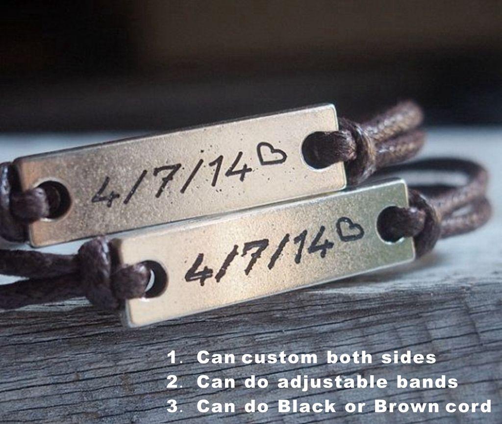 Couples Date Bracelets Custom Bracelets For Couples