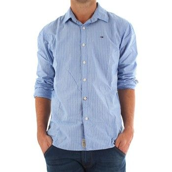 02ad38cae Tommy Hilfiger Camisa manga larga Camisa Tommy Listas Azul para ...