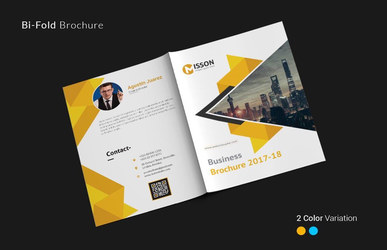 Bi Fold Brochure Template Ai Eps A4 Bi Fold Brochure Brochure Design Template Brochure Template