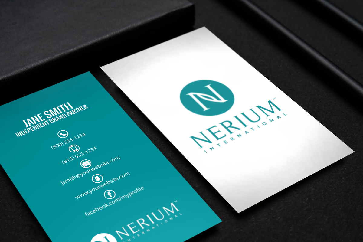 Nerium Brand Partners Mlm Nerium Print Paper Graphicdesign Businesscards Contactcard Printing Business Cards Free Business Cards Business Cards
