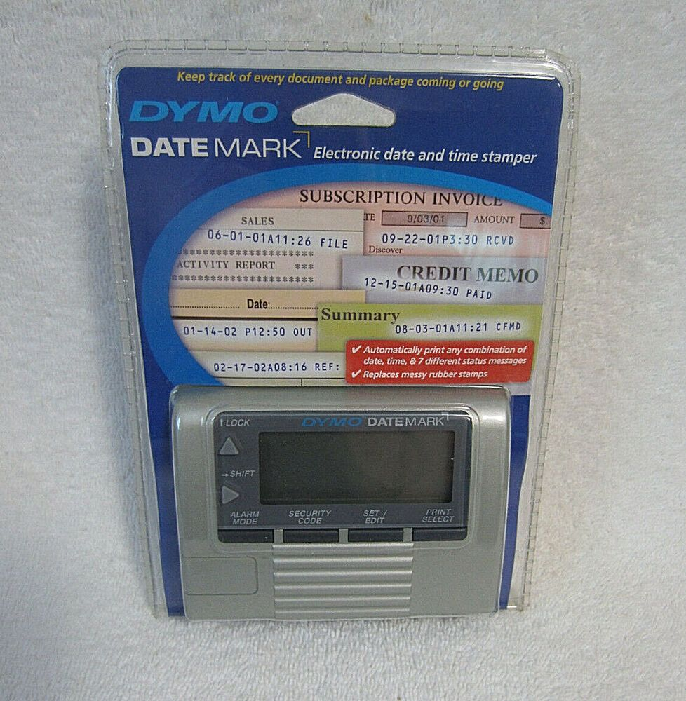 Dymo Datemark Electronic Date Time Stamp New Sealed Model