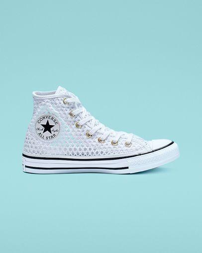 Chuck Taylor All Star Crochet Platform Low Top Womens Shoe. Converse.com #whiteallstars