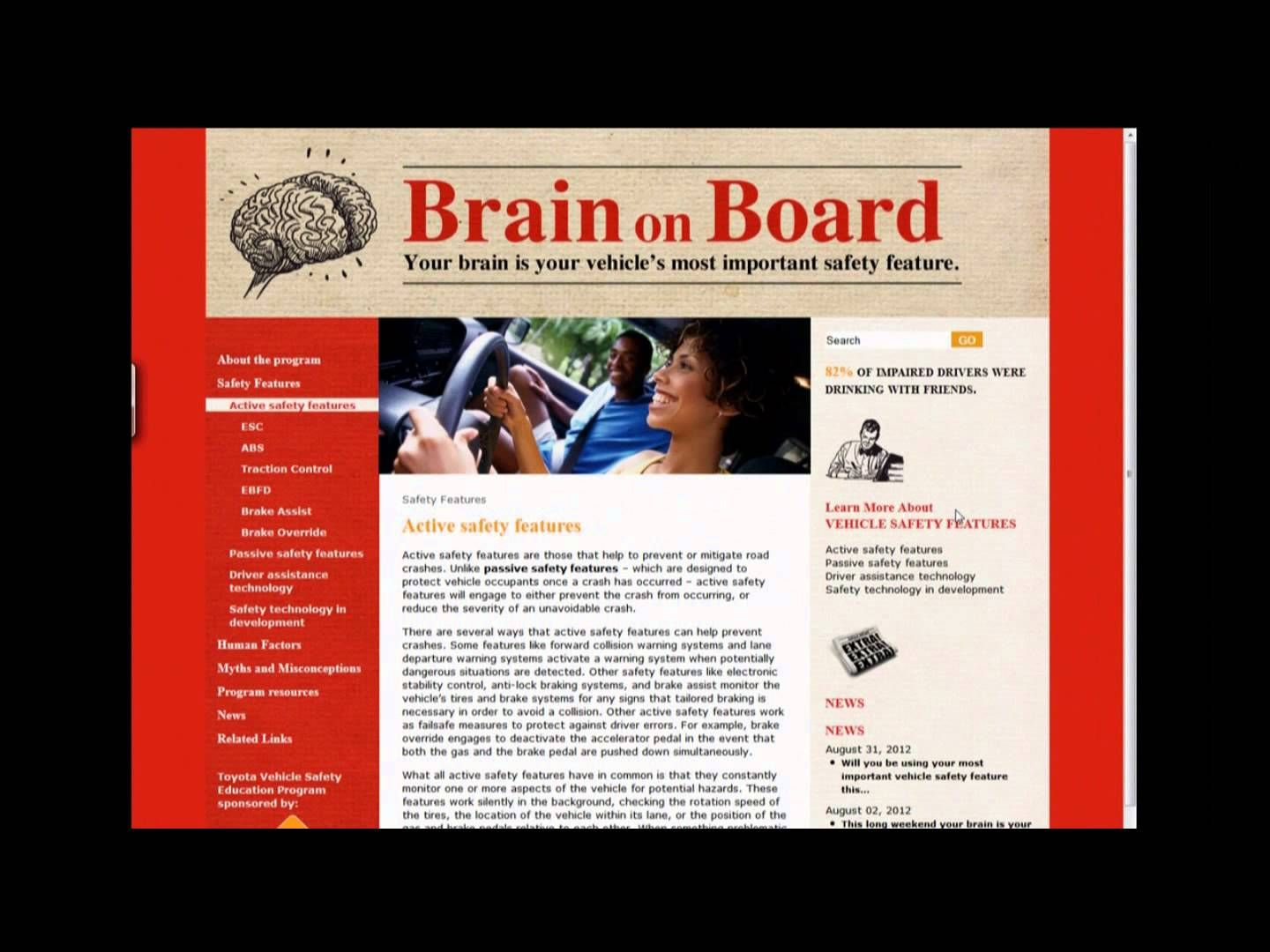 The Concept Behind Brain on Board Brain, Social issues