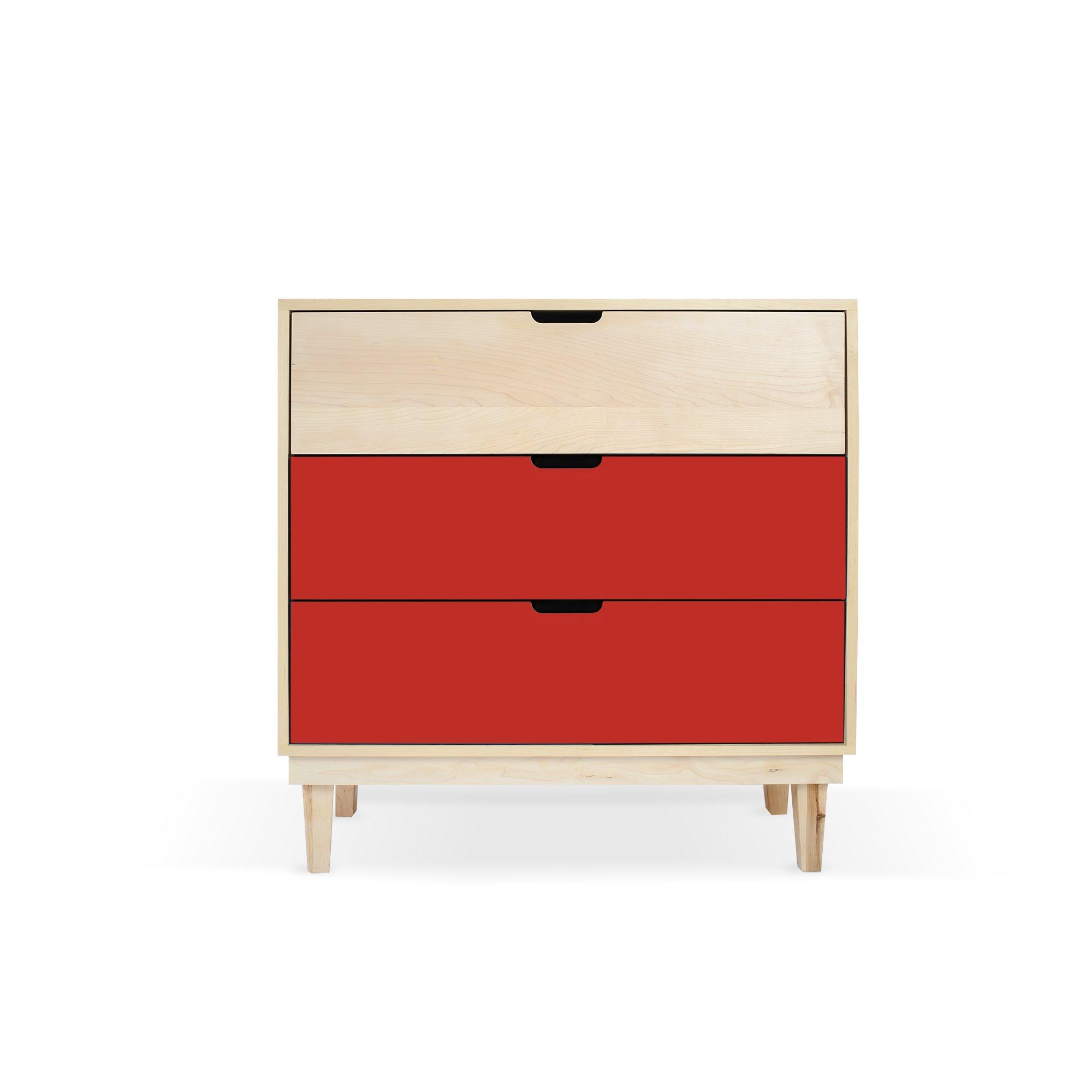 Kabano Modern Kids 3 Drawer Dresser Colorful Dresser Childrens