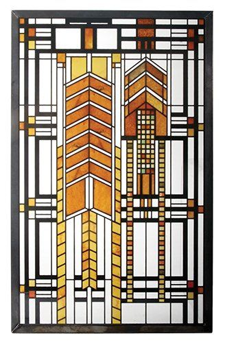 The Frank Lloyd Wright Autumn Sumac Stained Glass Is Adapted From A Window  In The Susan Lawrence Dana House In Springfield, Illinois.