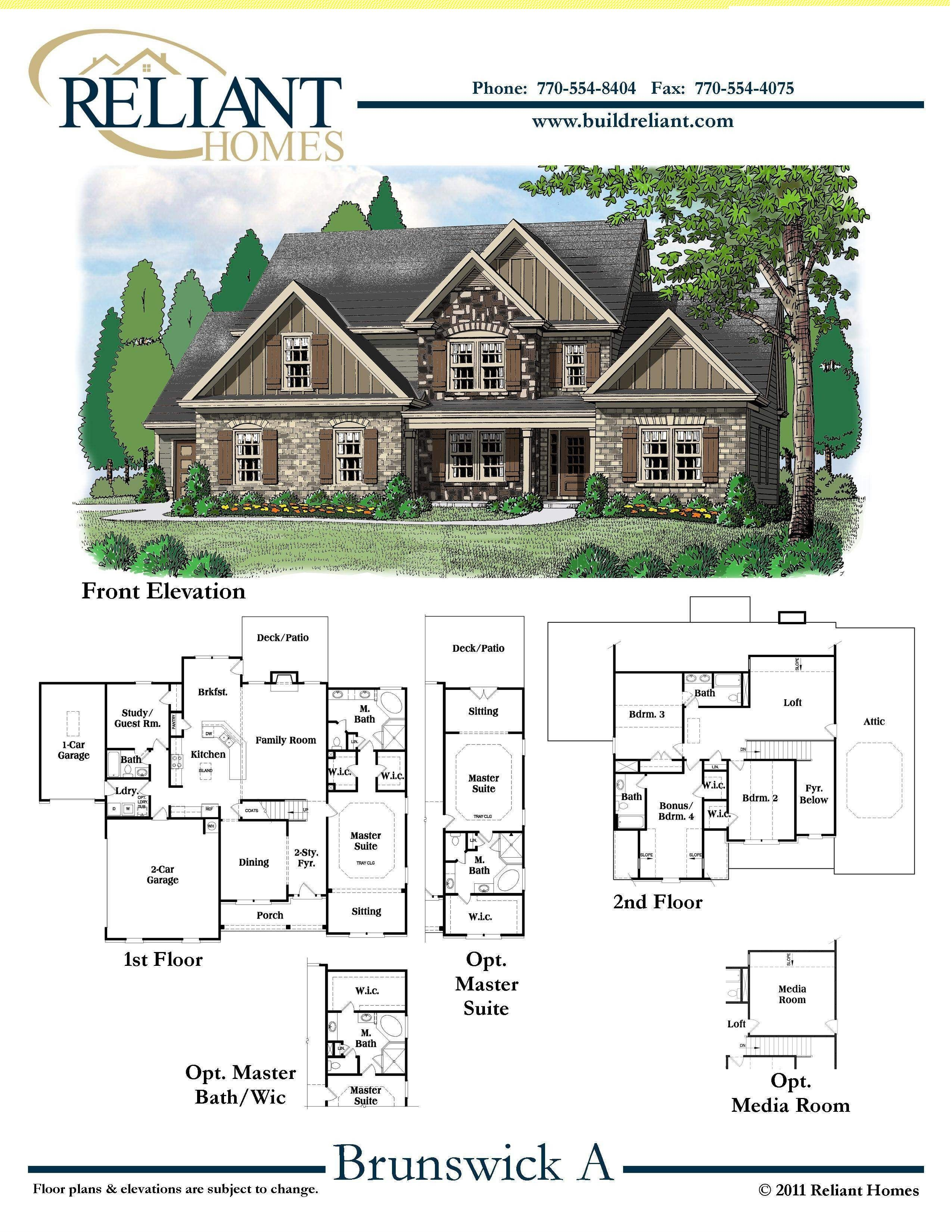 reliant homes the brunswick plan floor plans homes homes