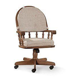 Intercon Classic Oak Tilt Swivel Caster Chair Original 580