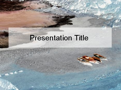 Canoeing in Winter PowerPoint Template #public speaking - winter powerpoint template