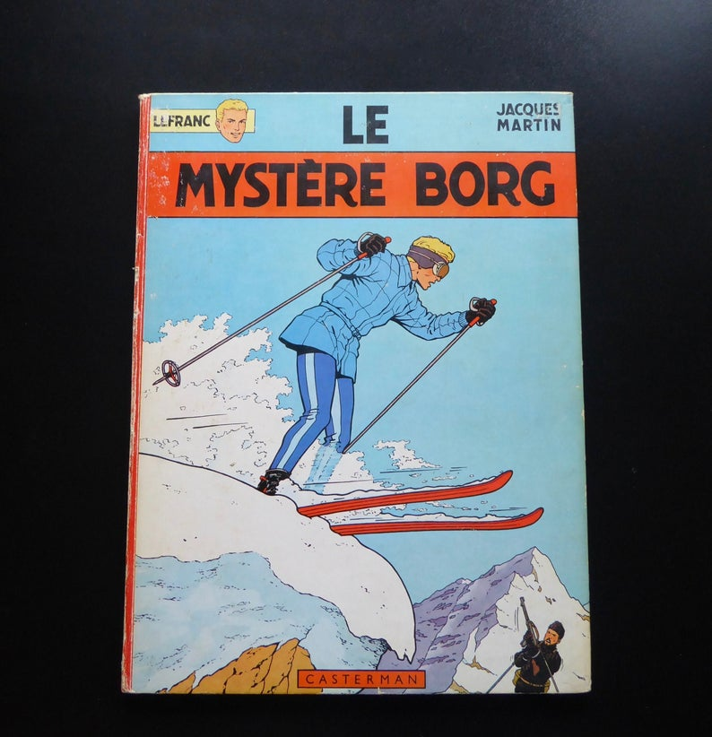 Tintin Journal Lefranc The Borg Mystery Casterman First Etsy Tintin Historical Period Classic Comic Books
