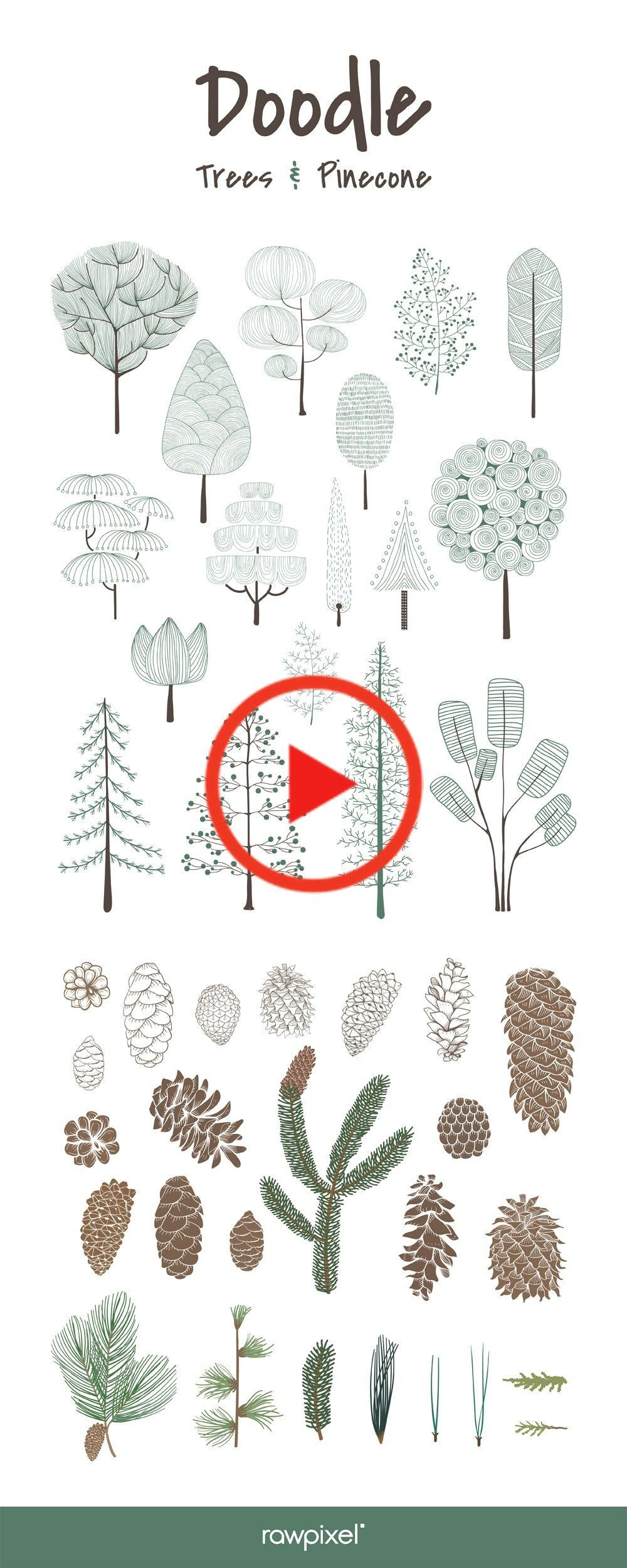 Get Free And Premium Royalty Free Vectors Of Doodle Trees And Pine Cones At Rawpixel Com Tree Doodle Tree Roots Tattoo Pine Tree Tattoo Tree Doodle Tree Drawing Tree Roots Tattoo
