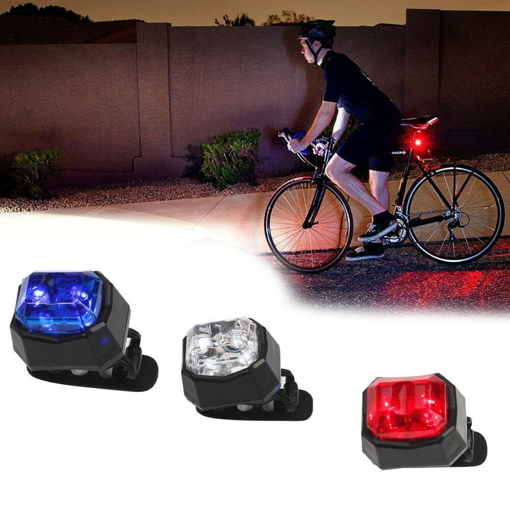 2LED bright cycling bicycle bike safety rear tail flashing back lights lamp