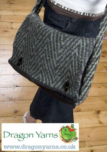 Practical Messenger Bag | Free Knitting Patterns | Let's