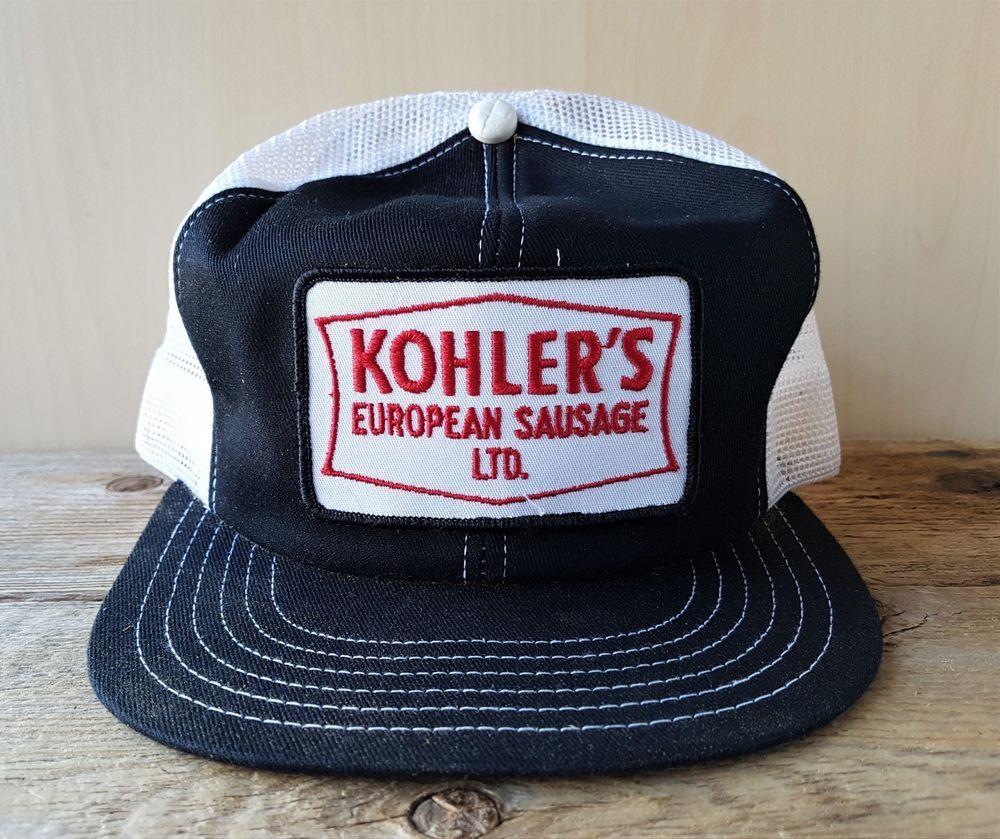 d6487460 Vintage 80s KOHLER'S EUROPEAN SAUSAGE Mesh Trucker Hat Canada Snapback Cap  Patch #PromoWearLtd #Trucker