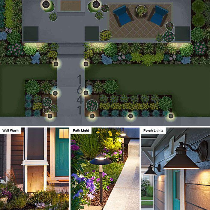 Landscape Lighting Plan Landscape Lighting Landscape Curbing Yard Lights